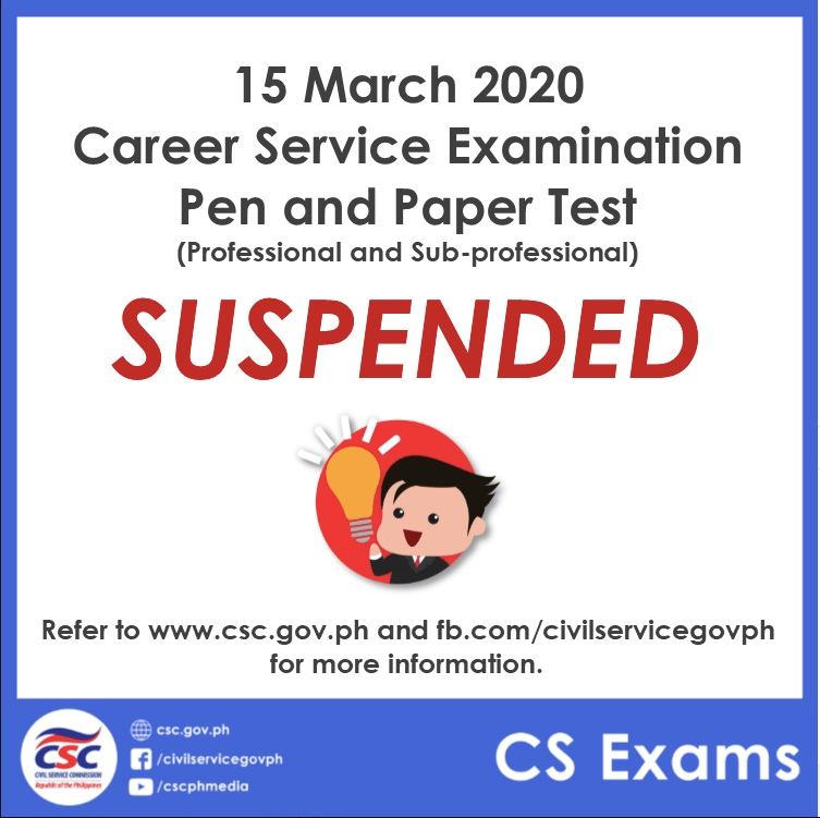 March 15 CSE Cancellation
