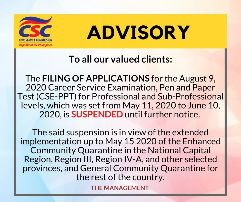 suspension of august 9 filing